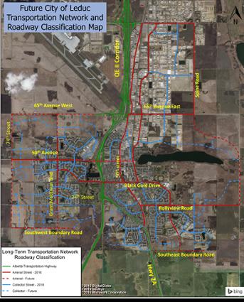 Future City of Leduc Transportation Network